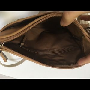 Coach Bags - Coach Leather Pleated Swingpack No F42833 Natural